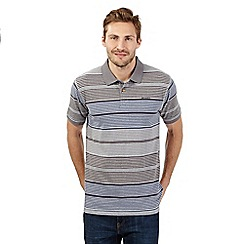 Weird Fish - Grey graduating stripe polo shirt