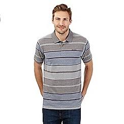 Weird Fish - Grey graduating stripe polo shirt