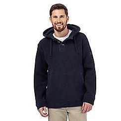 Weird Fish - Navy textured sweater