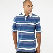 Blue striped rugby shirt