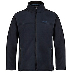 Regatta - Navy zip through Sherpa fleece