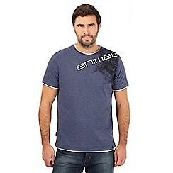 Animal - Blue logo print t-shirt