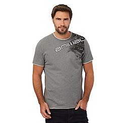 Animal - Grey logo stitched shoulder detail t-shirt