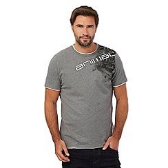 Animal - Grey logo stitched shoulder detail t-shirt