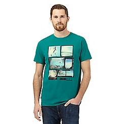 Animal - Green beach scene print t-shirt