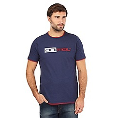 Animal - Navy applique logo print t-shirt
