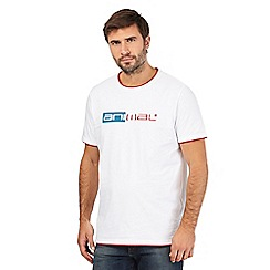Animal - White applique logo print t-shirt