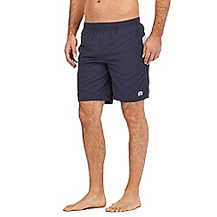 Animal - Navy logo print swim shorts