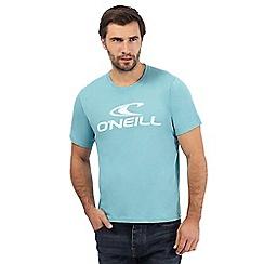 O'Neill - Turquoise logo print t-shirt