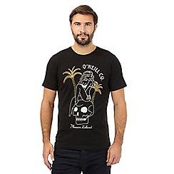 O'Neill - Black pleasure island print t-shirt