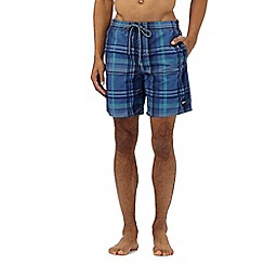O'Neill - Blue checked print swim shorts