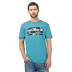 Quiksilver - Blue 'Check My Spray' print t-shirt