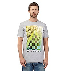 Quiksilver - Grey underwater checked print t-shirt