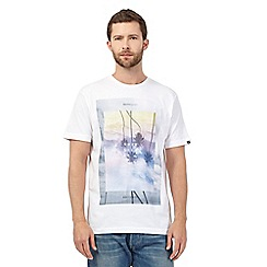 Quiksilver - White palm tree print t-shirt