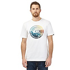 Quiksilver - White logo print crew neck t-shirt