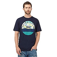 Quiksilver - Navy 'Extinguished' print t-shirt
