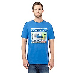 Quiksilver - Blue 'Sprayed Out' print t-shirt