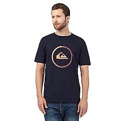 Quiksilver - Navy logo print t-shirt