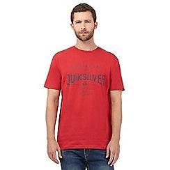 Quiksilver - Red logo print t-shirt