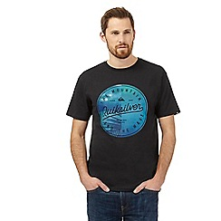 Quiksilver - Black logo print crew neck t-shirt