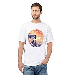 Quiksilver - White circle logo print t-shirt