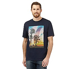 Quiksilver - Navy palm tree print t-shirt