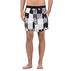 Quiksilver - Black checked print swim shorts