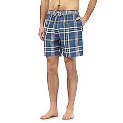 Mantaray - Blue checked print swim shorts