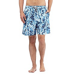 Mantaray - Big and tall blue tie dye swim shorts