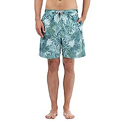 Mantaray - Blue jungle print swim shorts