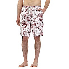 Mantaray - Big and tall red floral print swim shorts