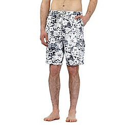 Mantaray - Big and tall navy floral print swim shorts