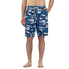 Mantaray - Big and tall blue film reel print swim shorts