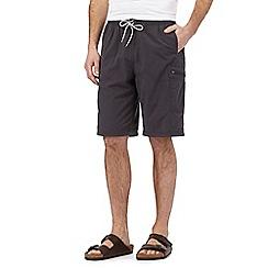 Mantaray - Big and tall dark grey cargo shorts
