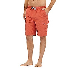 Mantaray - Big and tall orange cargo swim shorts