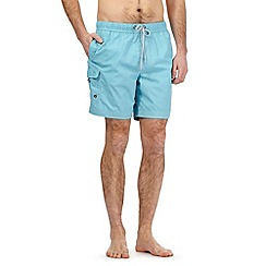 Mantaray - Big and tall light turquoise cargo swim shorts