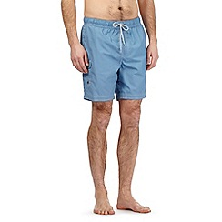 Mantaray - Big and tall light blue cargo swim shorts