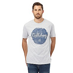 Billabong - Grey logo print t-shirt