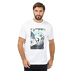 Billabong - White surf print t-shirt