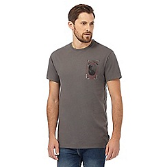 Billabong - Grey 'Hawaii' print t-shirt