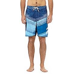 Billabong - Navy logo printed swim shorts