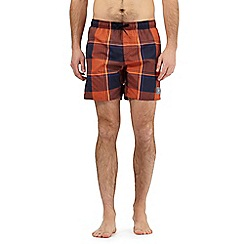 Speedo - Orange checked swim shorts