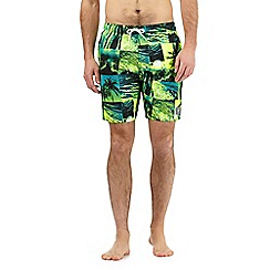 Speedo - Green tropics print swim shorts