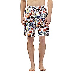 Red Herring - Blue polaroid print swim shorts