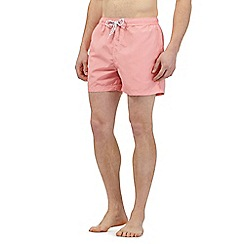 Red Herring - Big and tall red vertical striped swim shorts