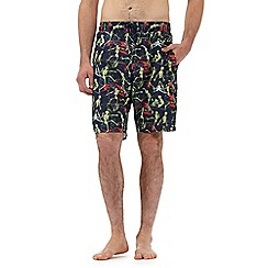 Red Herring - Big and tall multi-coloured skeleton print swim shorts