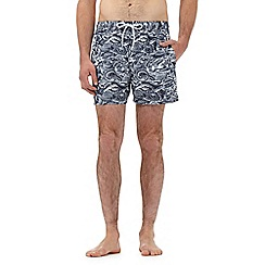 Red Herring - Big and tall black snake print swim shorts