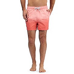 Red Herring - Big and tall pink dip dye swim shorts
