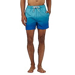 Red Herring - Big and tall turquoise ombre effect swim shorts