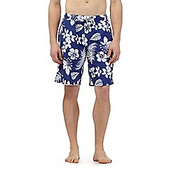 Maine New England - Big and tall navy floral print swim shorts
